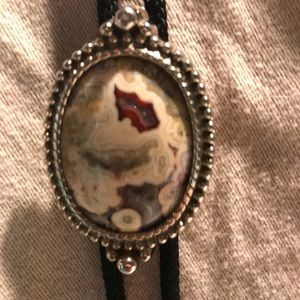 Other - Bolo Tie with Gorgeous Mexican Lace Agate